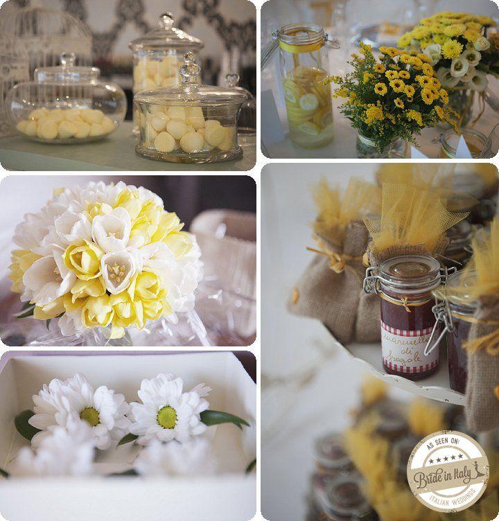 White + Yellow rustic wedding. Ph EnneFoto http://www.brideinitaly.com/2013/12/ennefoto-bianco-giallo.html #italianstyle #rustic #wedding