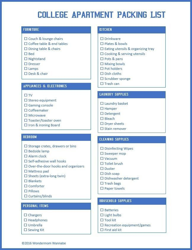Transitioning from the dorms to an apartment is a big step and requires a lot of extra shopping. Make sure your college student has everything they need with this printable college apartment packing list. #CreateWithHP [ad] http://wondermomwannabe.com/printable-college-apartment-packing-list/