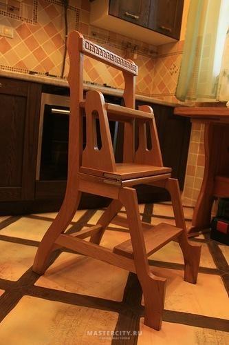 Лестница стремянка она же стул (стул-стремянка) - фото - Форум Mastercity