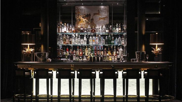Beaufort Bar at The Savoy hotel, London, England.