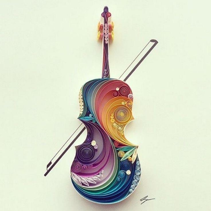 arte con papel enrollado - Buscar con Google