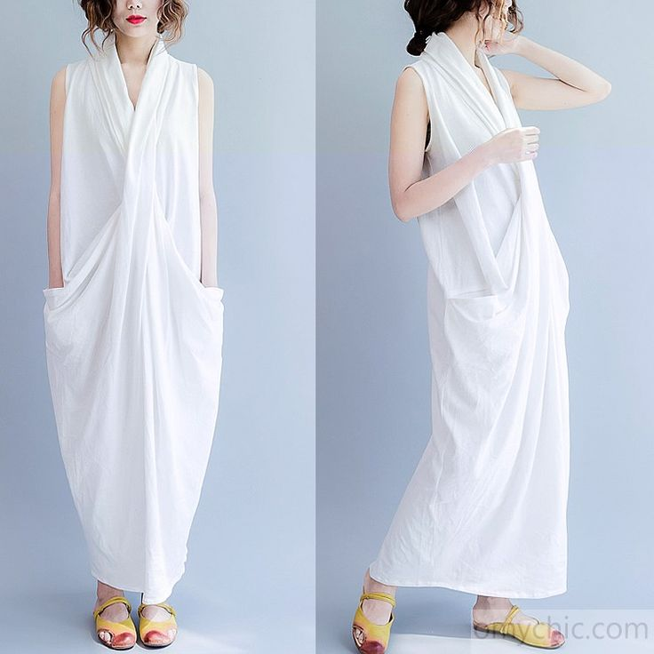 2017 Summer white cross bust cotton gown free style cotton ...