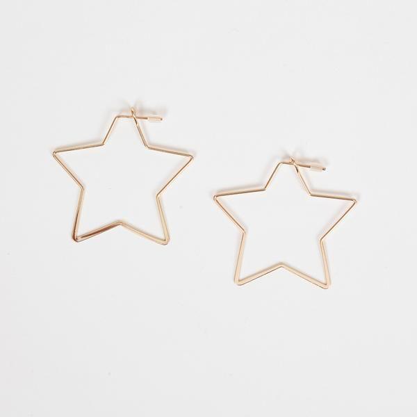 Big Metal London Gold Iman Star Hoop Earrings Earrings Hoop Earrings Corydon