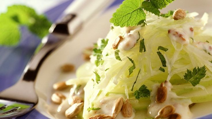 Rezept: Kohlrabisalat mit Joghurtdressing