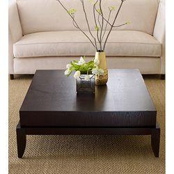 @Overstock - Morgan square coffee table has a unique contemporary design  Materials: Solid hardwood frame   Finish: Espressohttp://www.overstock.com/Home-Garden/Morgan-Square-Coffee-Table/6304613/product.html?CID=214117 $620.99