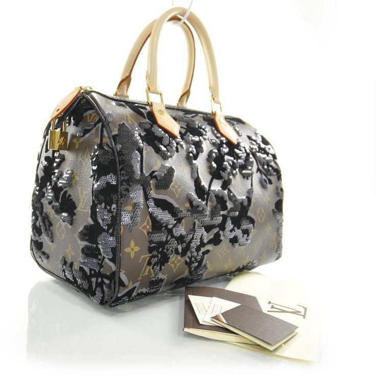 LOUIS VUITTON Monogram Fleur De Jais Sequins Speedy 30 #bags #fashion - 736 x 736  66kb  jpg