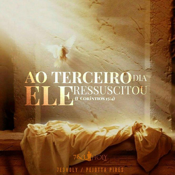 """""""JESUS foi sepultado e ressuscitou no terceiro dia, conforme as Escrituras…"""" (1 Coríntios, 15:4)"""