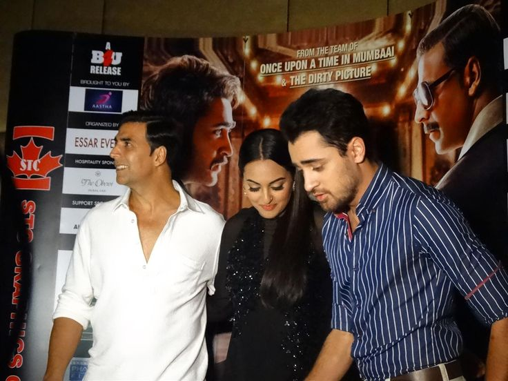 The cast of Hindi movie 'Once Upon a Time in Mumbai Dobaara' came to Dubai. Stars Imran Khan Sonakshi Sinha and Akshay Kumar
