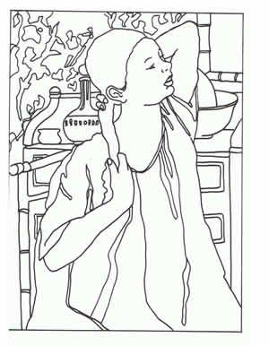 famous paintings into coloring pages for free draw