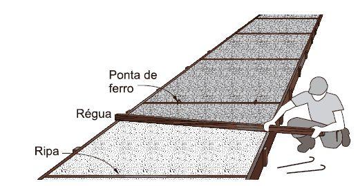 calcada feita de cimento