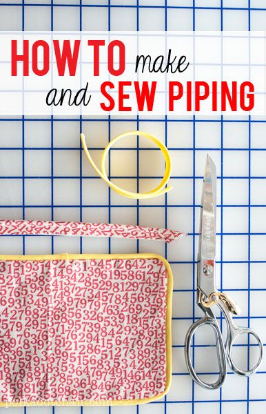 Sewing Lessons: How to Sew Piping - The Polka Dot Chair Sewing Blog