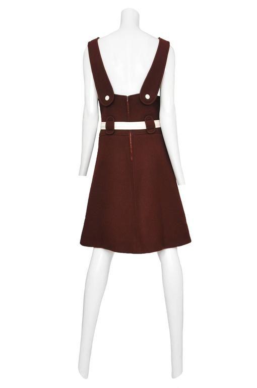 Courreges Brown Wool Jumper 4