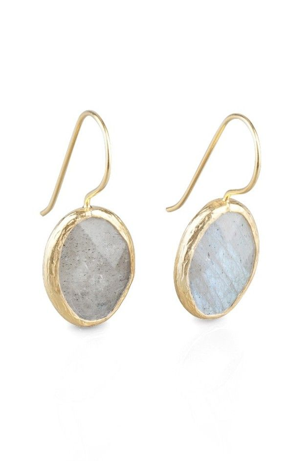 Lovely gift for mum. Earrings – Grey Petite Oval Labradorit Earrings – a unique product by toosis via en.DaWanda.com