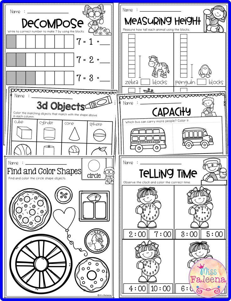 Kindergarten Math Kindergarten math, First grade math