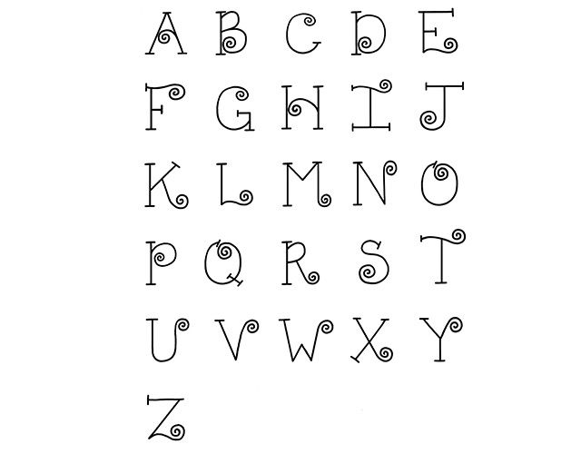 Curly-Q Alphabet featured in Fun to Fancy Hand-Lettering Workshop with Nancy Burke. Watch a free preview here: http://www.anniescatalog.com/onlineclasses/detail.html?code=PEV01