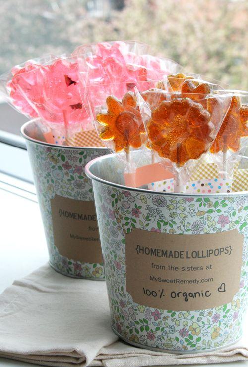 Homemade, organic lollipops- no corn syrup