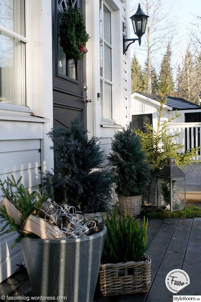veranda,porch,advent,ljuslykta,ljusslingor,jul,juldekoration