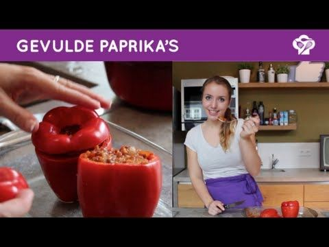 ▶ FOODGLOSS - Gevulde paprika's - YouTube