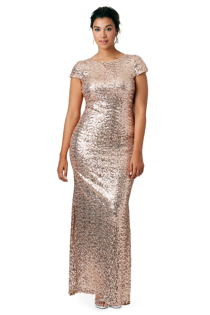 Shimmering Blush Gown by Badgley Mischka for $145   Rent The Runway