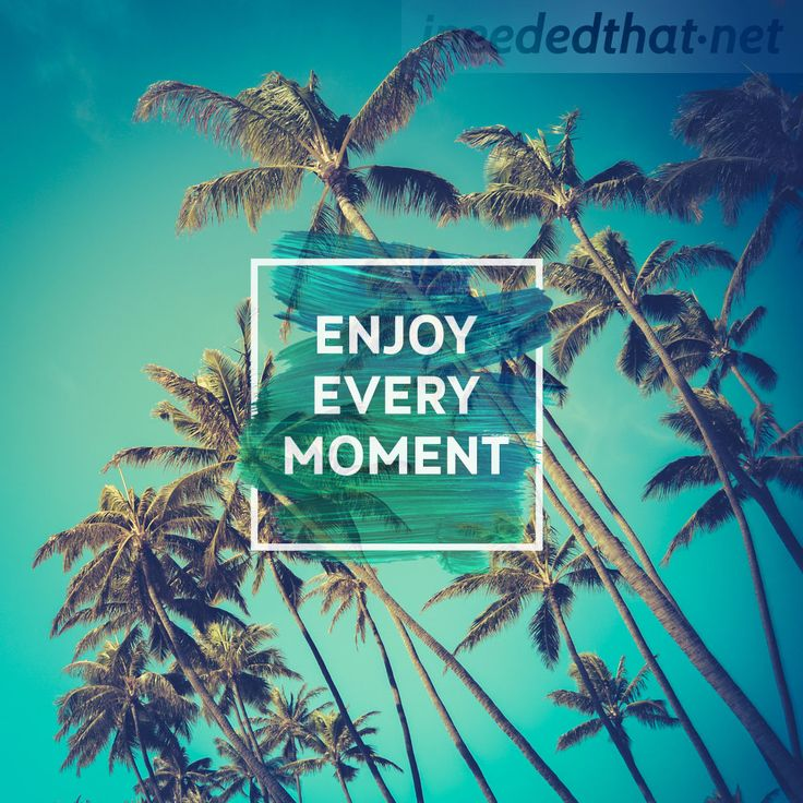 Enjoy every moment - ineededthat.net