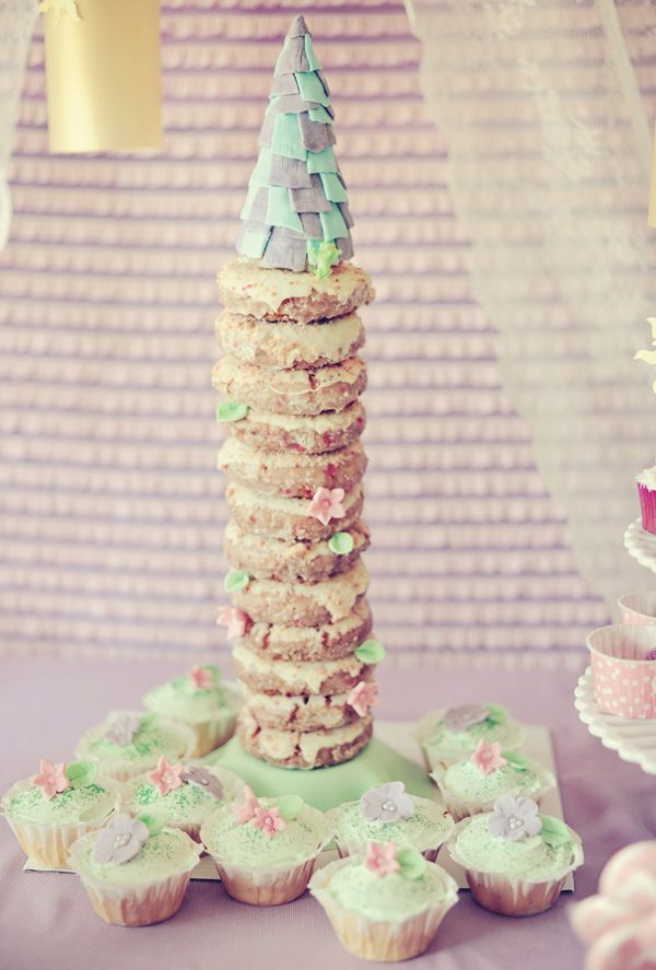 Tangled Princess Donut Tower!