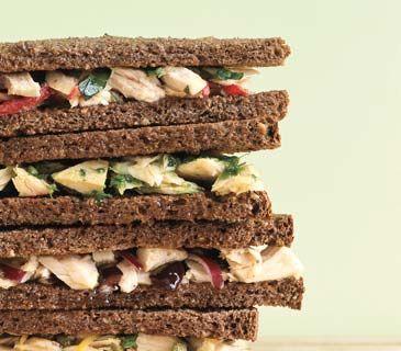 Red Onion and Kalamata Olive Tuna Sandwich
