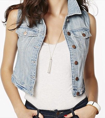 Top off your look with this gorgeous euphoria distressed denim vest!