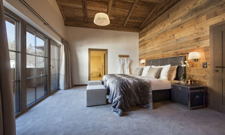 1 of 10 large double ensuite bedrooms with lounge area #luxurychalet #stanton #skiholiday