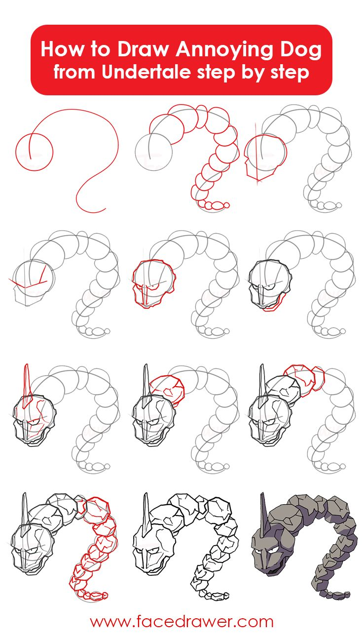 Onix is your favourite Pokemon? Today you can learn how to draw Onix from Pokemon with our easy step by step drawing lesson,
