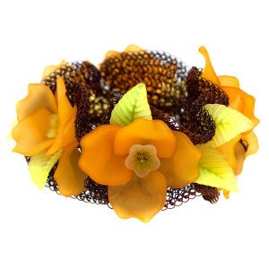 bracelet like pumpkin flowers! from www.herstorydesign.com