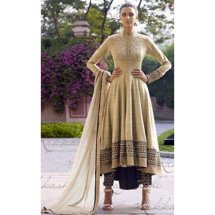 Vintage-look Designer Salwar Suit ( D.No.11036 )