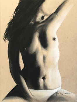 The Art: This art piece is part of a series of charcoal and pencil works I