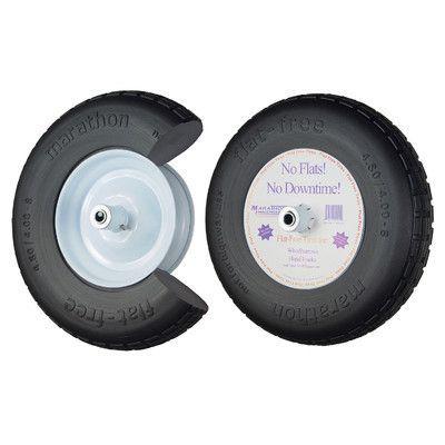 "Marathon Industries 16"" Knobby Flat Free Wheelbarrow Tire"