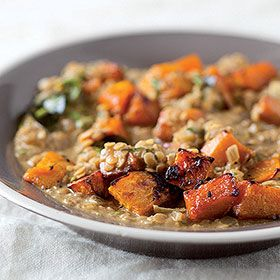 Red lentil and roast butternut curry