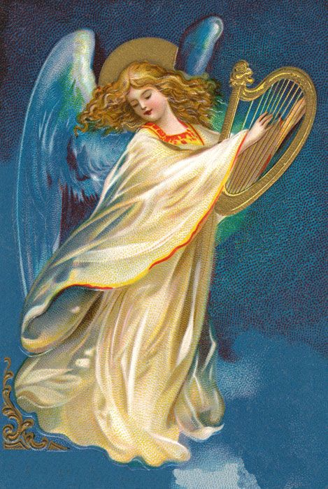 paintings of christmas angels | Christmas Angel Clipart ...