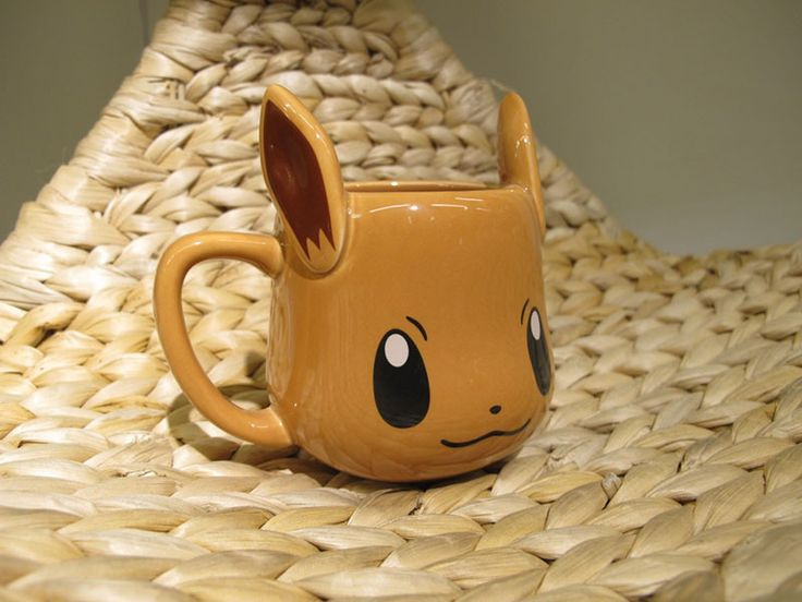 "For the Old-School Pokemon Trainers… Tired of all the Pikachu merchandise out there? Want a mug for the Pokemon with the most evolutions? Here's one for you! There are two variations of our ""Eevee"" mu"