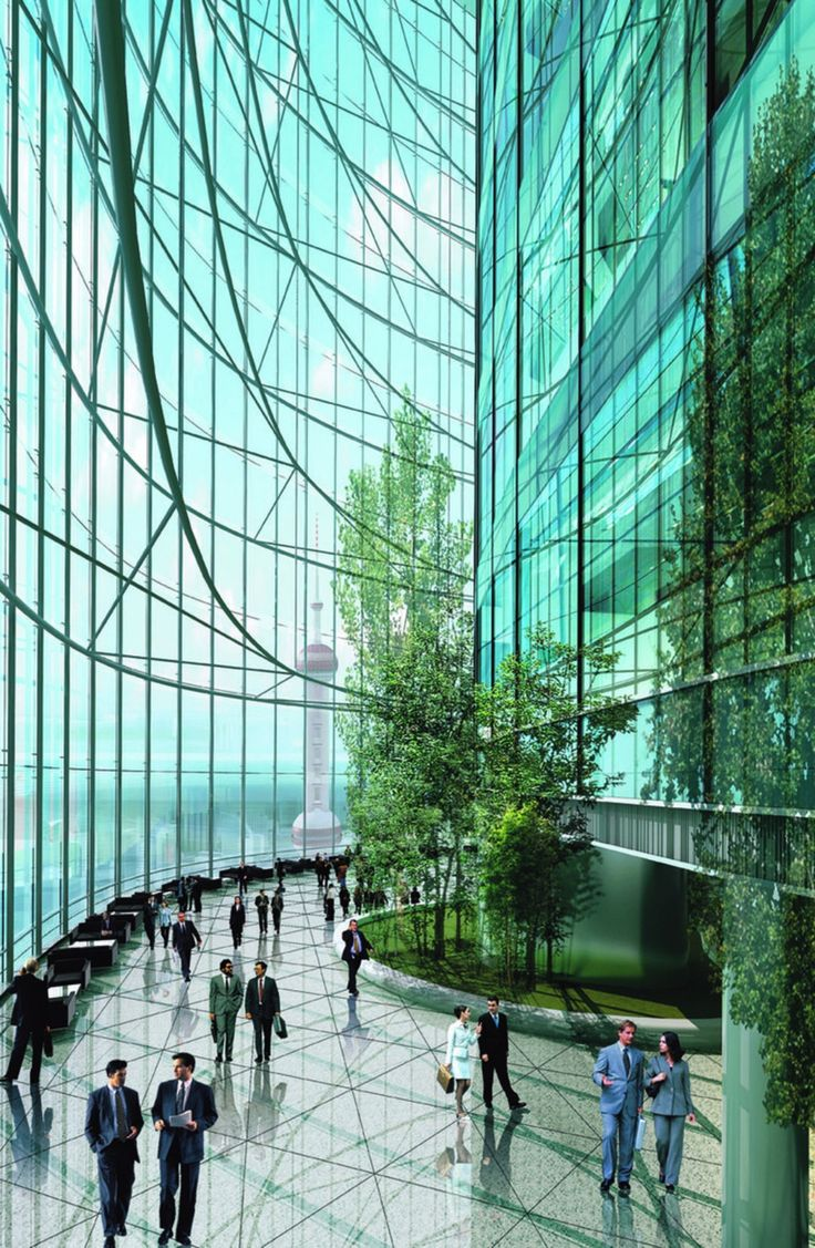 Shanghai Tower: Gensler's Savvy City In The Sky - Architizer #architecture - ☮k☮