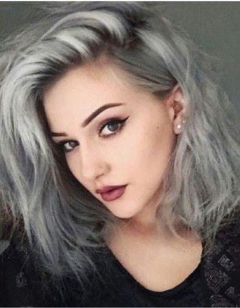 Cheveux colores gris
