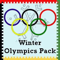 Free Winter Olympics Pack Part 1 - Over 120 pages for ages 2 to 9 - Lots of Math and Language activities - 3Dinosaurs.com