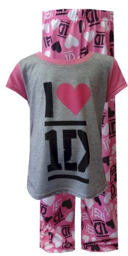 One Direction I Love 1d Pink Pajamas For Girls