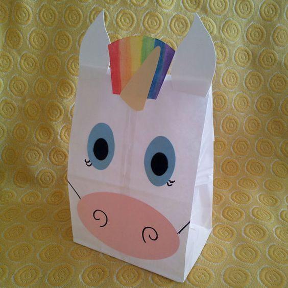unicorn party bag - Google Search:                                                                                                                                                      More