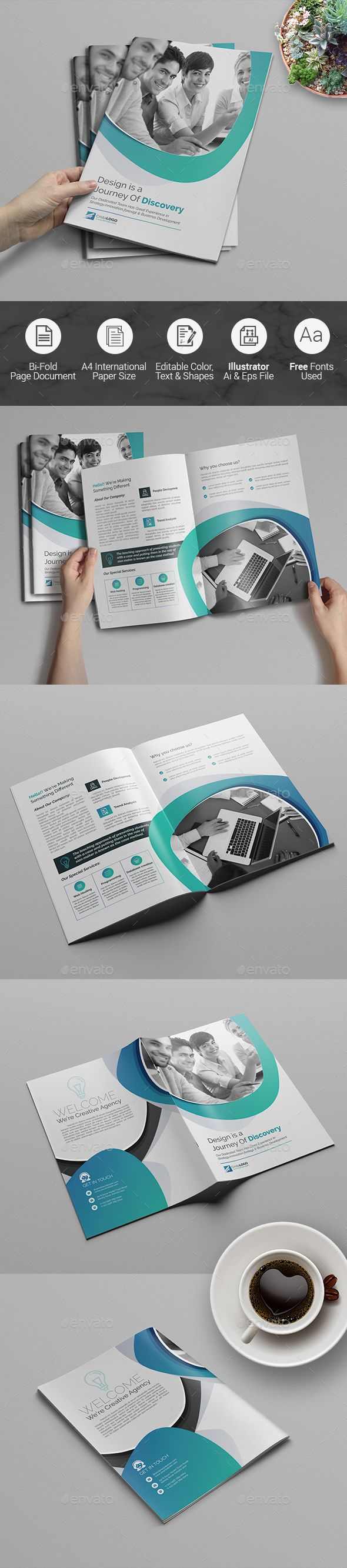 10130 best images about brochure templates on pinterest for Bi fold brochure template illustrator