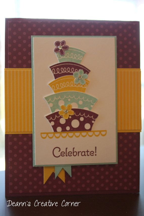 Happy Birthday Handmade Card Stampin' Up by DeannsCreativeCorner, $3 ...