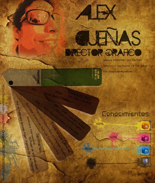 Alex Dueñas nos envía su CV. ¿Qué te parece?