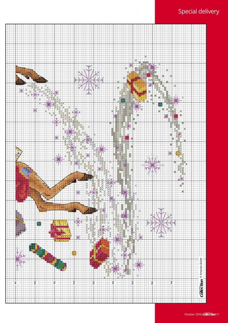 4 of 5 Special Delivery From Cross Stitch Collection N°267 October 2016