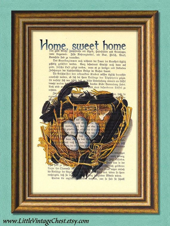 HOME SWEET HOME  Dictionary Art Print by littlevintagechest, $7.99
