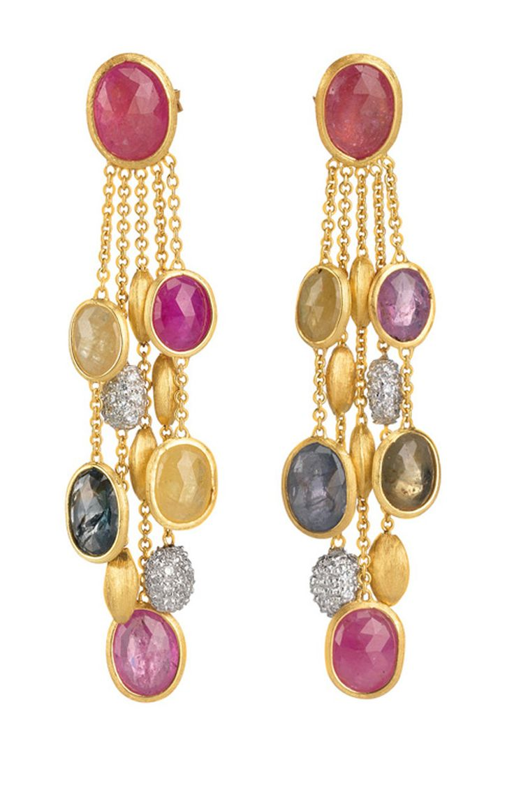 Coloured sapphire earrings, Marco Bicego