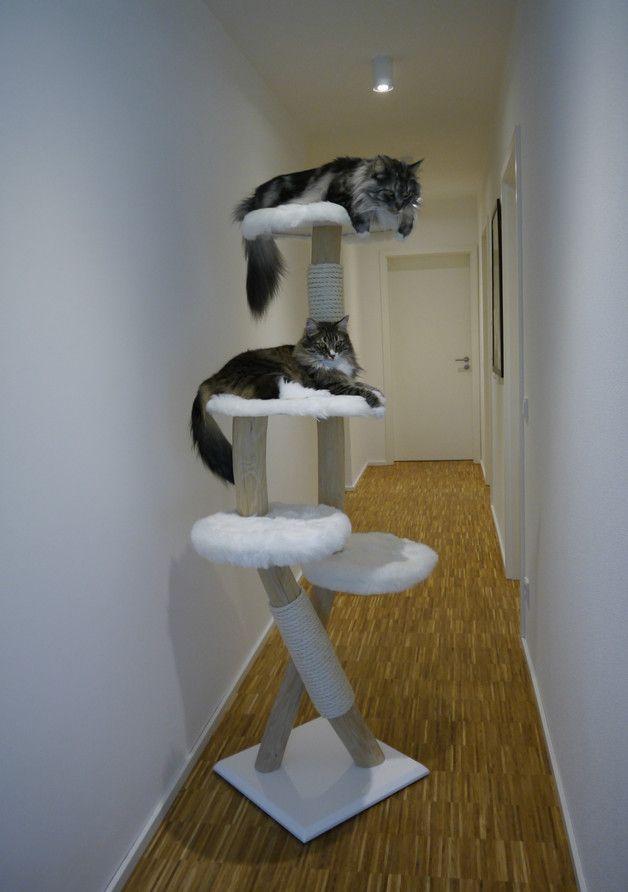 Ihre Katzen werden ihr neues Kletterparadies lieben!  Als Grundplatte wird eine große, schwere Multiplexplatte verwendet, welche für einen stabilen Stand sorgt. Das Massivholz ist geschliffen und...