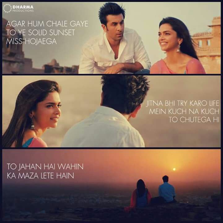 One of my favourite dialogues from the movie. #YJHD
