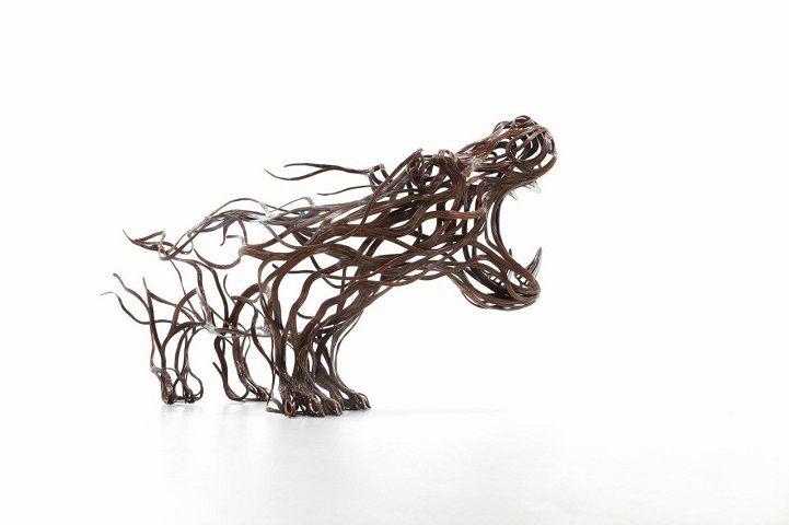Les Sculptures animalières de Bandes métalliques de Sung Hoon Kang (5)
